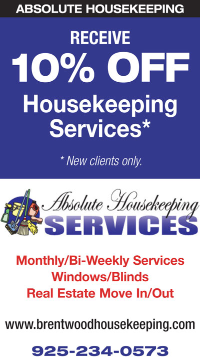 10% Off Housekeeping Services from Absolute Housekeeping
