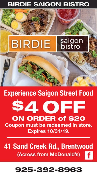$4 Off your order of $20 at Birdie Saigon Bistro