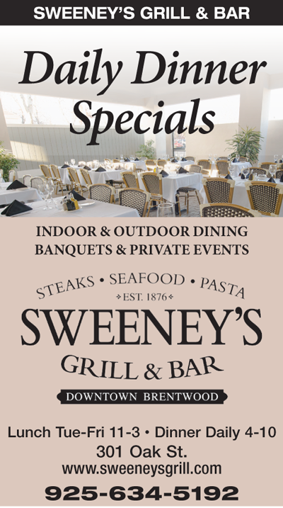 Daily Dinner Specials at Sweeney's Grill & Bar