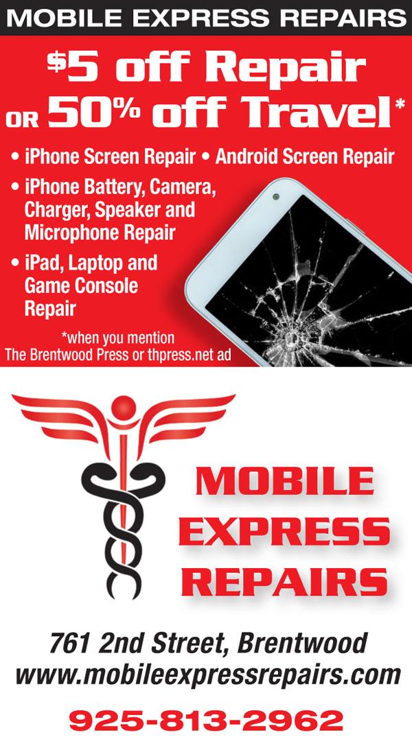 $5 off Repair OR 50% off Travel at Mobile Express Repairs