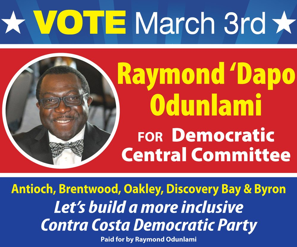 Raymond 'Dapo Odunlami for Central Democratic Committee