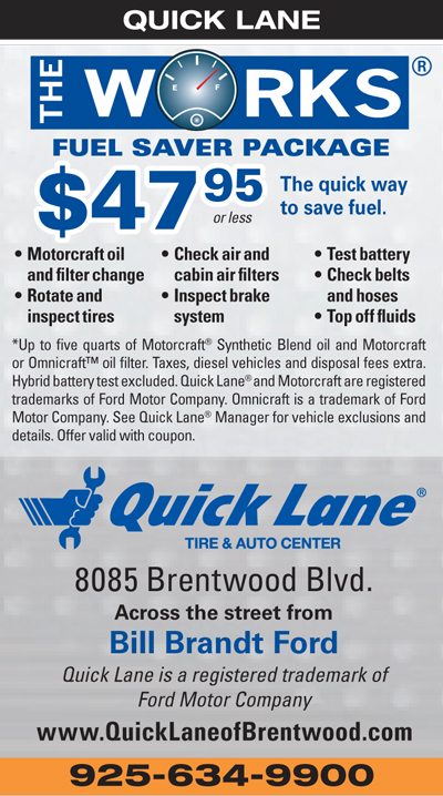$47.95 or less for The Works at Quick Lane Tire & Auto Center