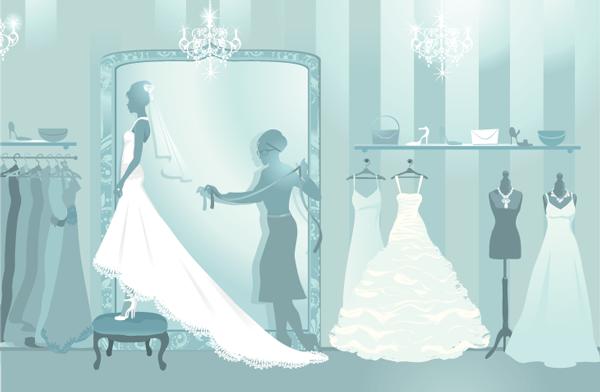 wedding dress silhouettes living