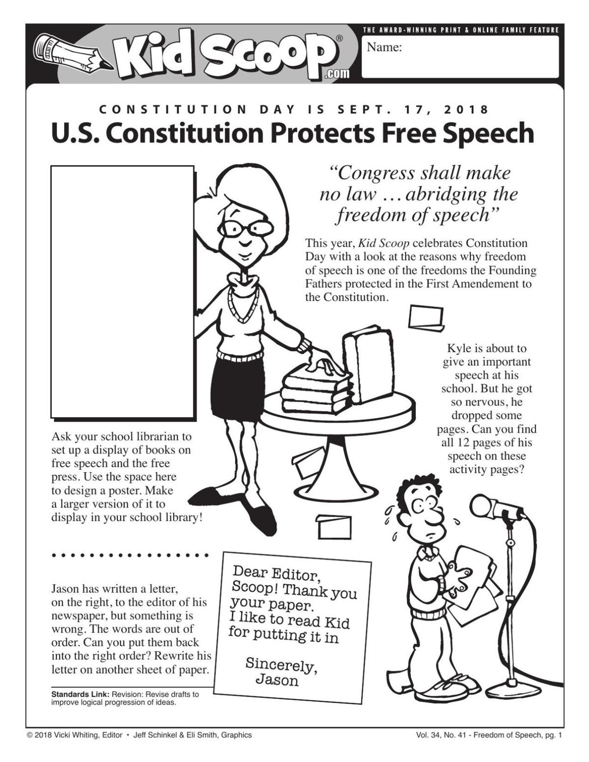 U.S. Constitution Protects Free Speech