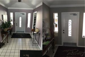 Before & After painted walls