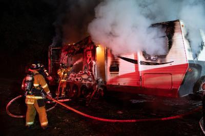 Oakley Trailer fire