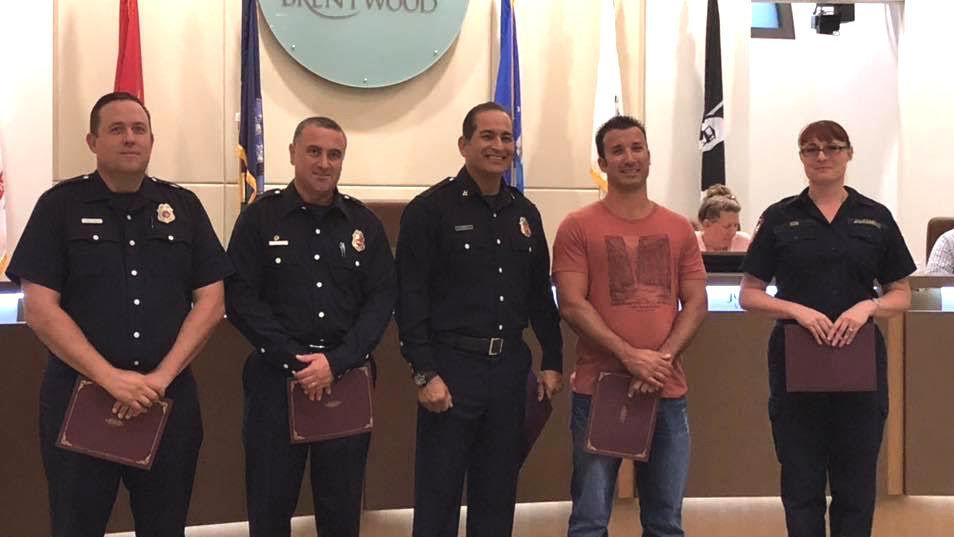 Residents of Discovery Bay honored for life-saving efforts