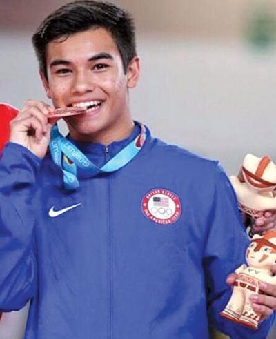 Trampolinist bounces to bronze medal