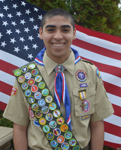 Diego Espinoza earns Eagle Scout rank