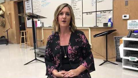 [Video] Lindsay Kellogg, director of bands at Liberty High School