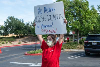 Kaiser Permanente Antioch nurses protest hospital policies on PPE