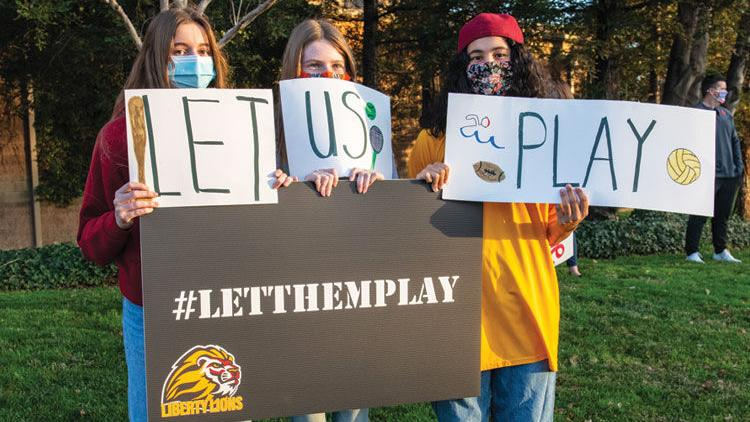 Residents rally for return to sports