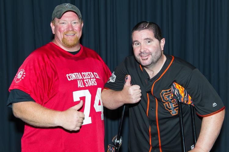 Delta Vista Middle School Principal Harvey Yurkovich and Bryan Stow