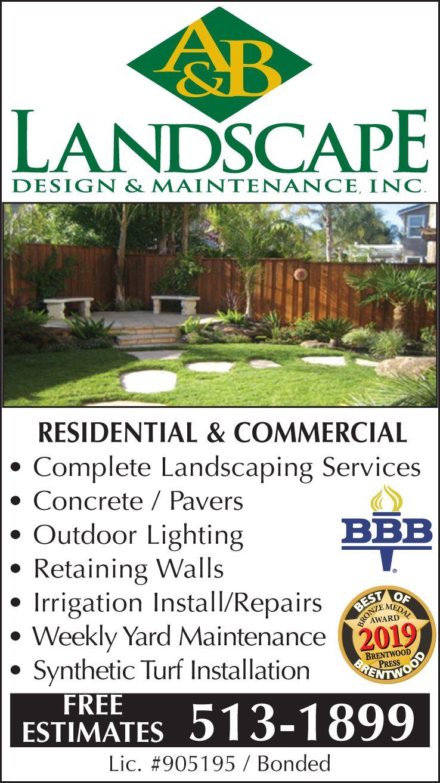 Landscaping Design Amp Maintenance Services Companies