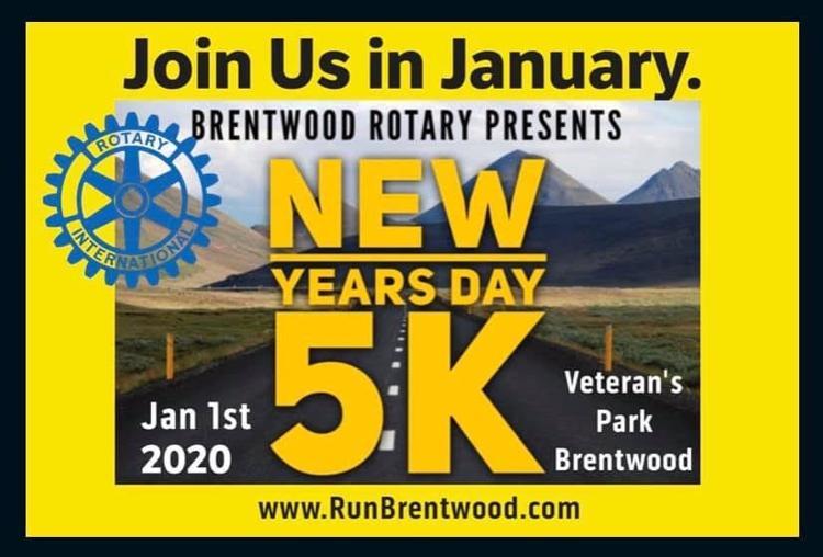 Rotary's New Year's Day 5K Run/Walk