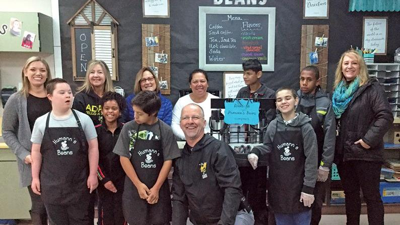 Adams Middle School uses coffee cart to enhance special education, community ties