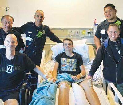 First responders visit Cassell family