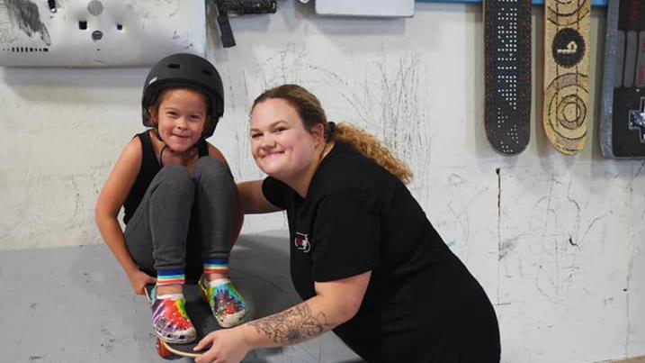 Skateboard clinic for kids, teens with special needs at Brentwood Skate Park