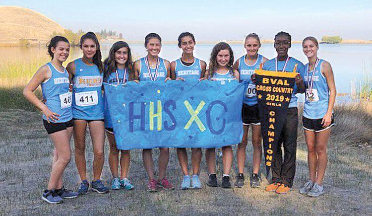 Liberty, Heritage win BVAL XC championships - Heritage girls