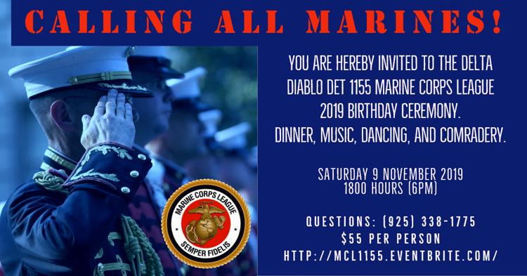 Marine Corps Birthday Ball 2019 Flyer