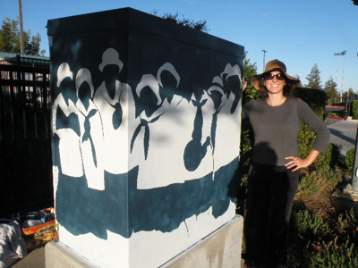 Local artists transform untility boxes for Brentwood's cityscape