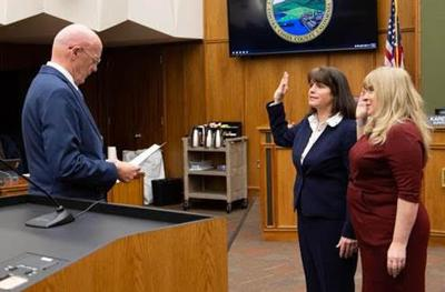 Swearing in Burgis and Anderson