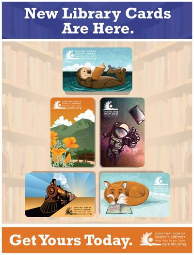 Contra Costa County Library system introduces new library card designs