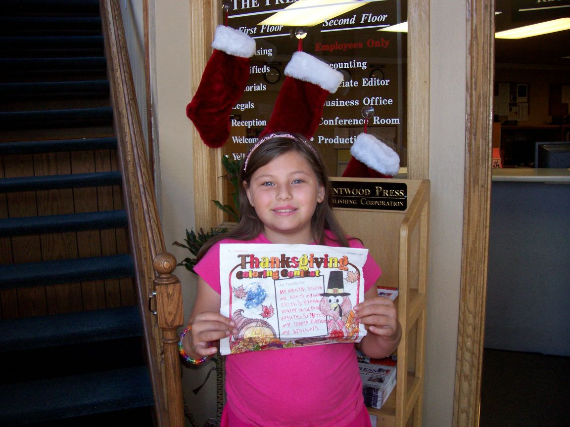 Thanksgiving coloring contest winner_Emily