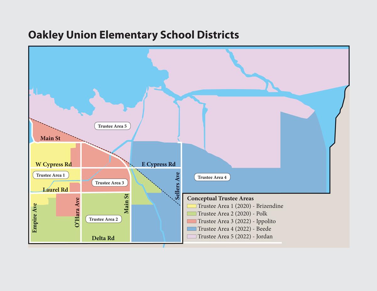 Oakley Union Elementary School District Election Map