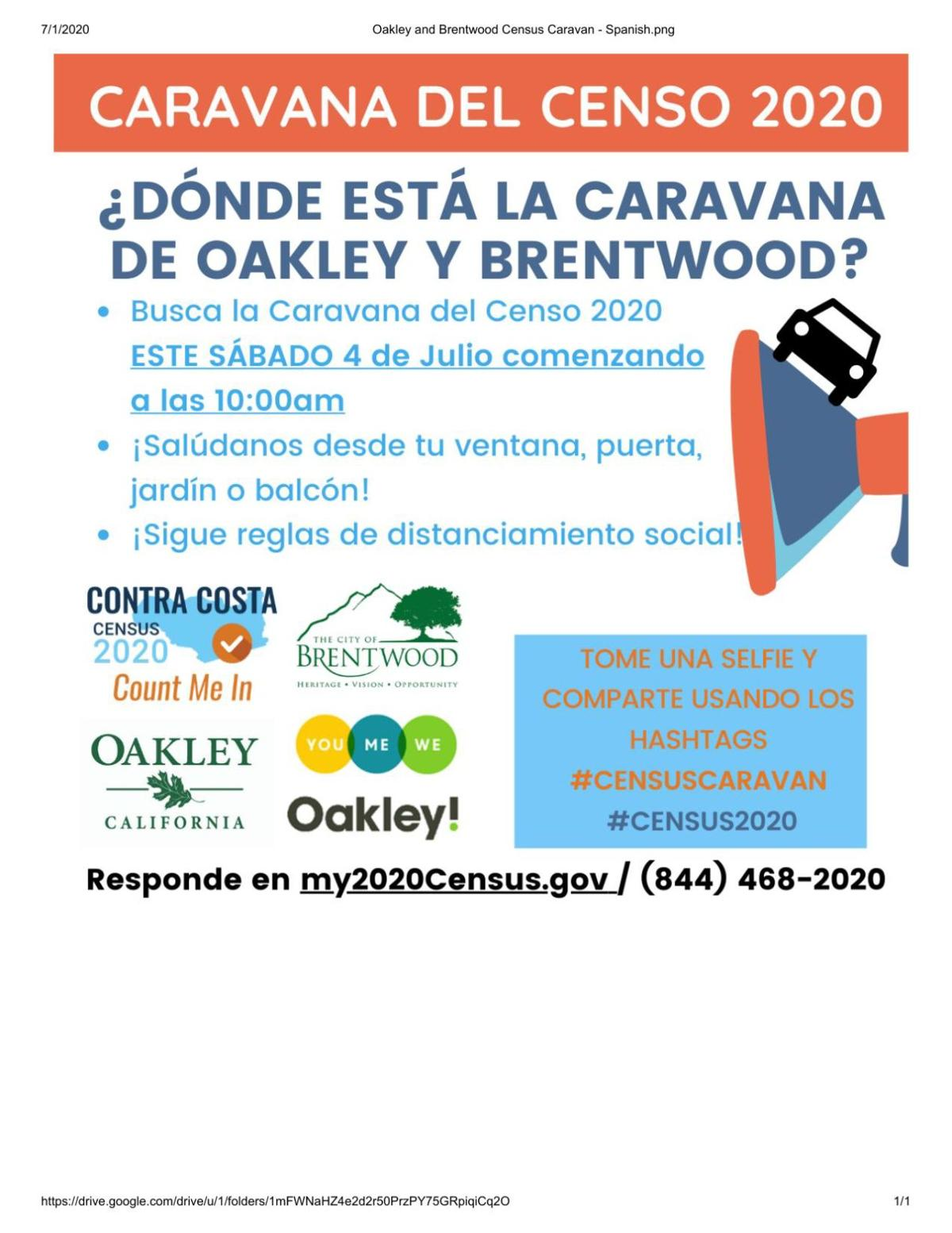 Oakley to Brentwood Census Caravan_Spanish version