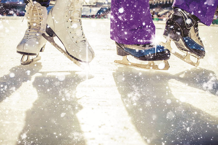 Holiday ice rink skating into downtown brentwood news thepress ice skaters solutioingenieria Images