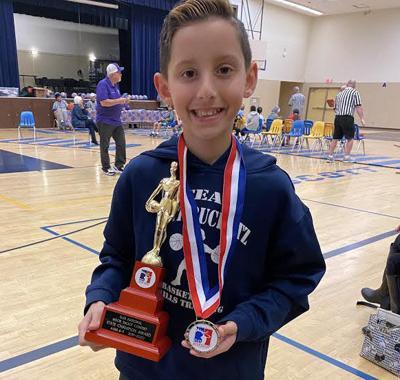 Oakley's Jackson Ramirez wins Elks Hoop Shoot California State free-throw contest