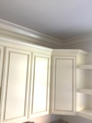Cabinets shelving crown molding 1