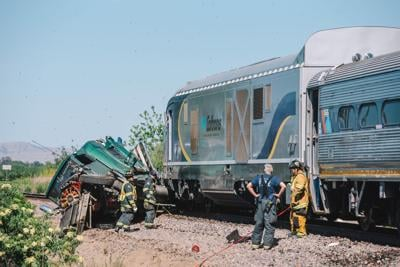 Train collides with big rig in Orwood