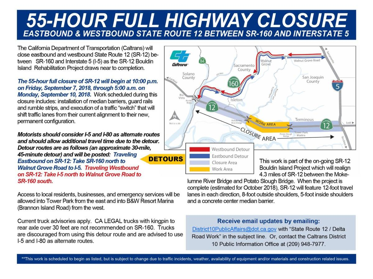 Full highway closure expected on State Rte 12 this weekend ... on modot traffic map, txdot traffic map, san francisco traffic map, faa traffic map, ohio dot traffic map, seattle traffic map, wsdot traffic map,