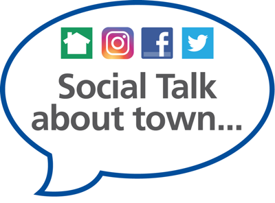 Social Talk about town logo