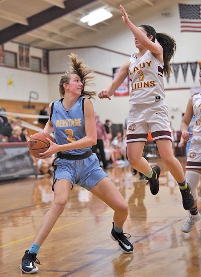 Heritage hoops downs rival Liberty - Amanda Muse