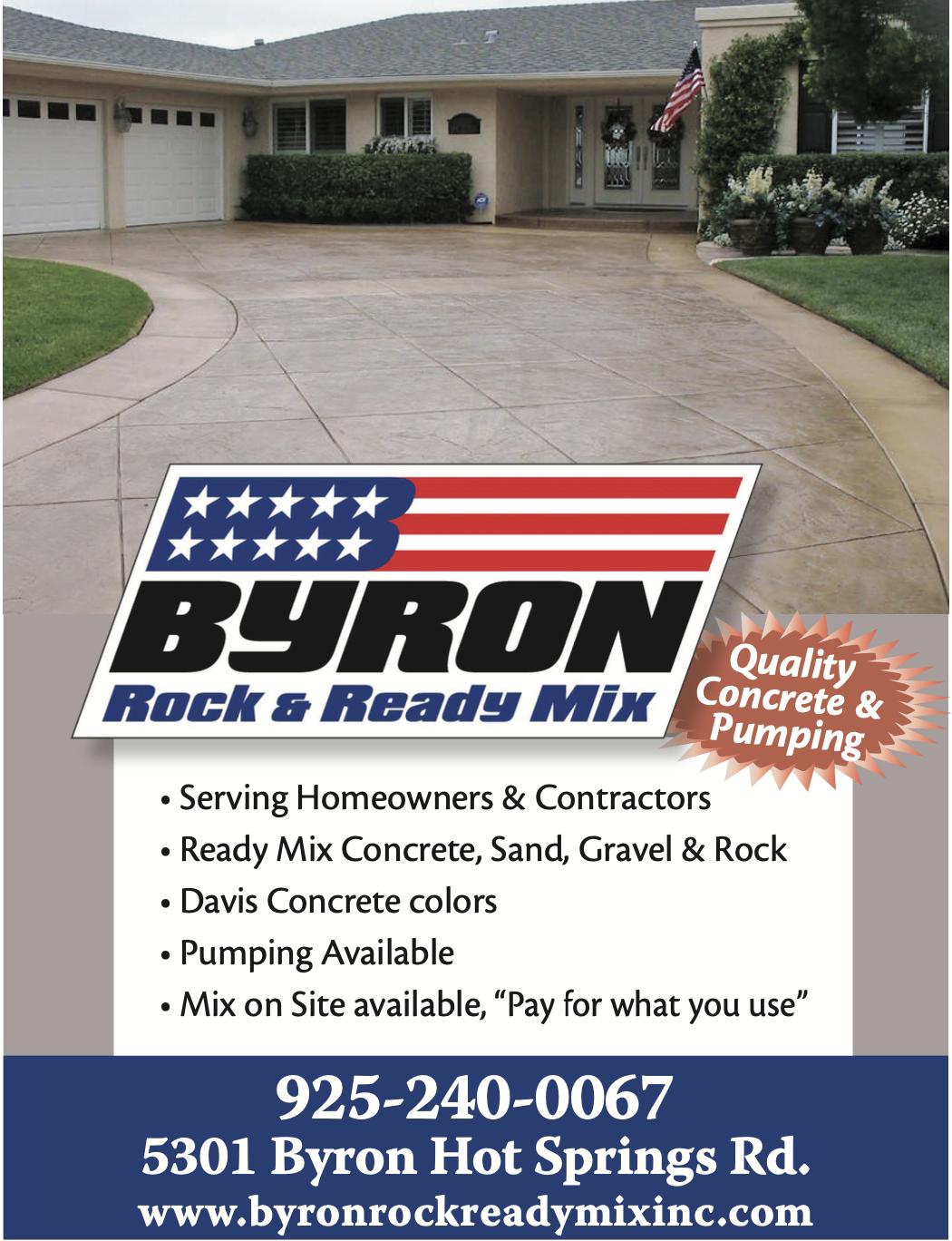 Byron Rock & Ready Ad