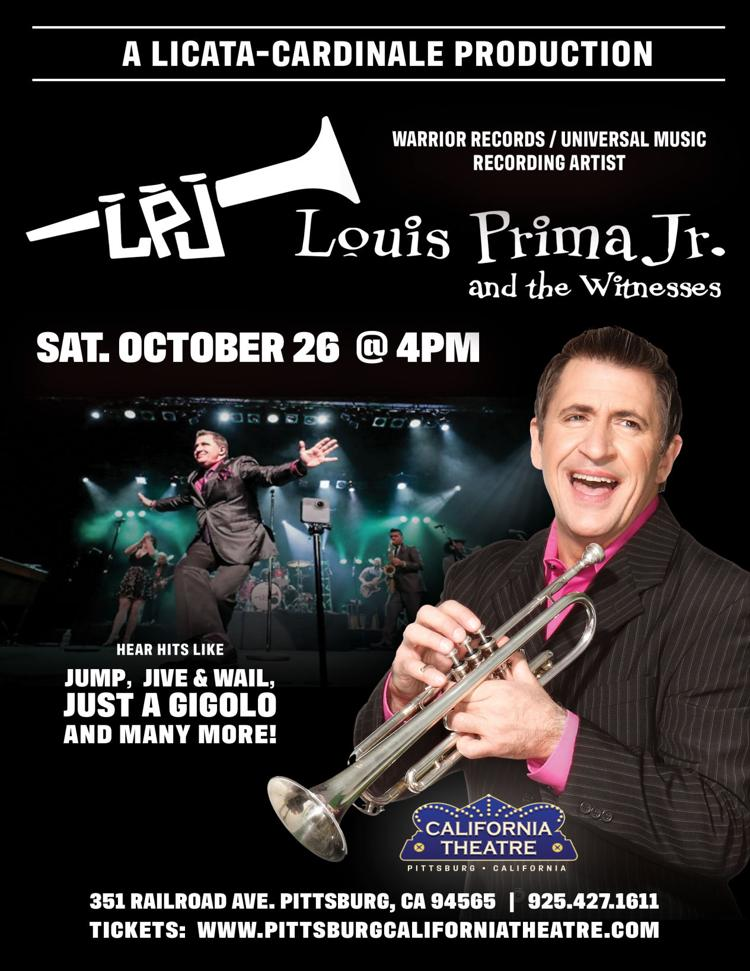 Louis Prima Jr. & the Witnesses: Live at the California Theatre/Sat. Oct. 26 @ 4PM