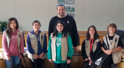 Brentwood Cadette Girl Scout Troop 31862 celebrates Earth Day