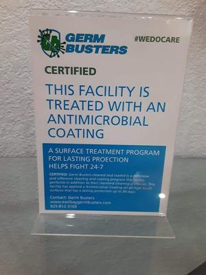 Certified_Treated with an antimicrobial coating_front