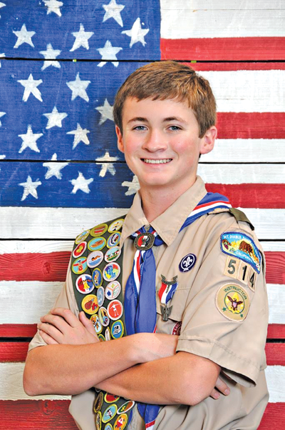 Eagle Scout Jonathon Kent Knittel attended his Court of Honor