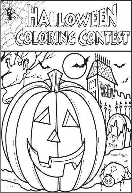 Halloween Coloring Page thepressnet Contest Games