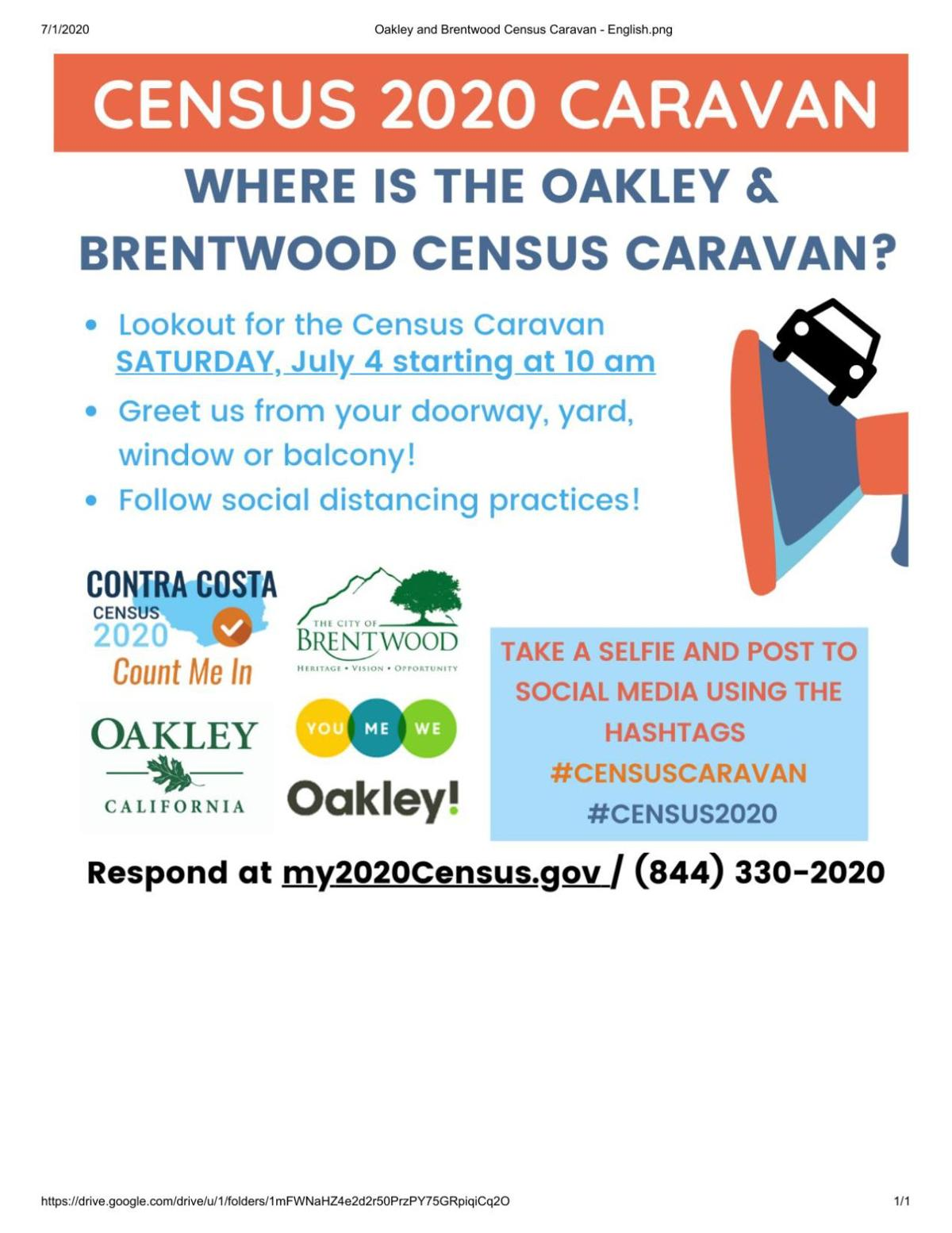 Oakley to Brentwood Census Caravan_English