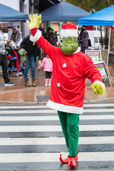 The Grinch strolls about the Winter WalkAbout
