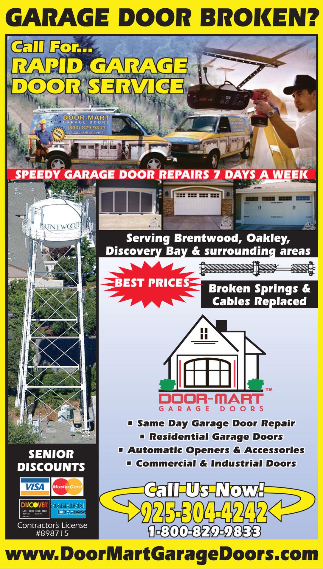 Door-Mart Garage Doors  sc 1 st  Brentwood Press & Door-Mart Garage Doors | doors | garage doors | Brentwood CA ... pezcame.com