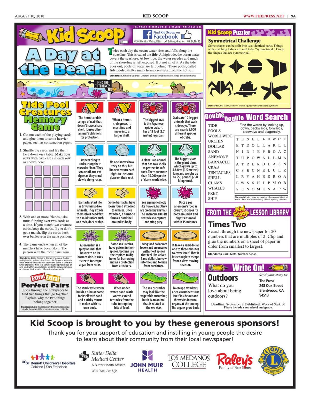 A Day at the Beach 8-10-18 pdf | Kid Scoop | thepress net