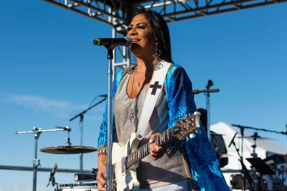 Pittsburg Seafood Festival 2020 Photos] Musician Sheila E. performing at the Pittsburg Seafood