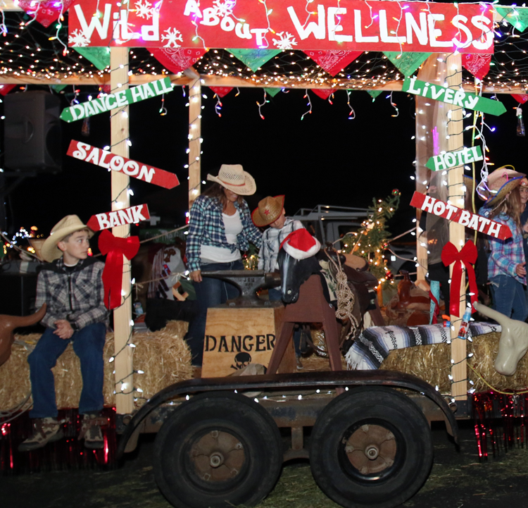 riding into christmas on the parade of lights