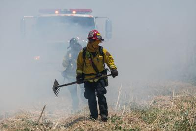Oakley vegetation fire